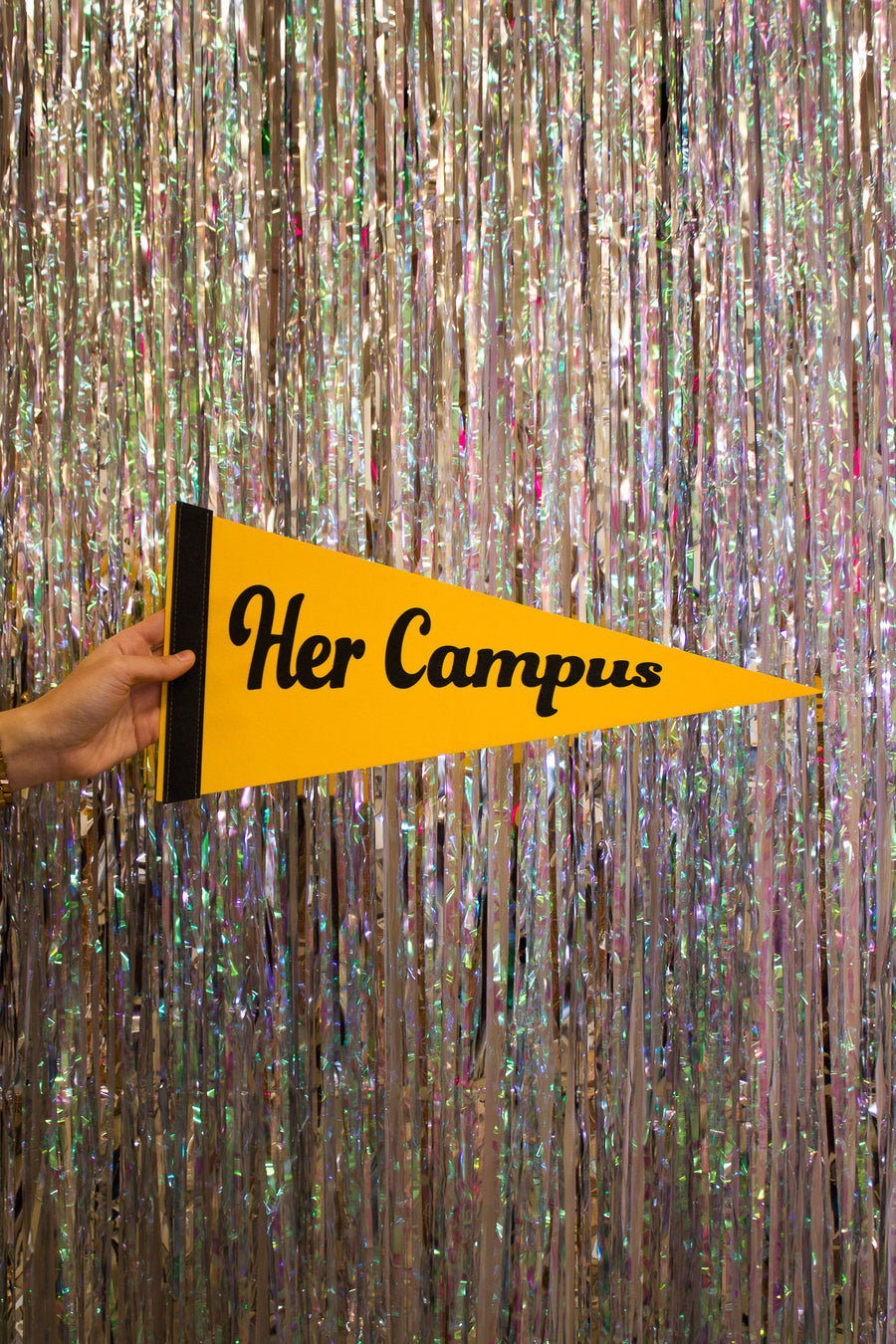 Her Campus Pennant - Yellow and Black