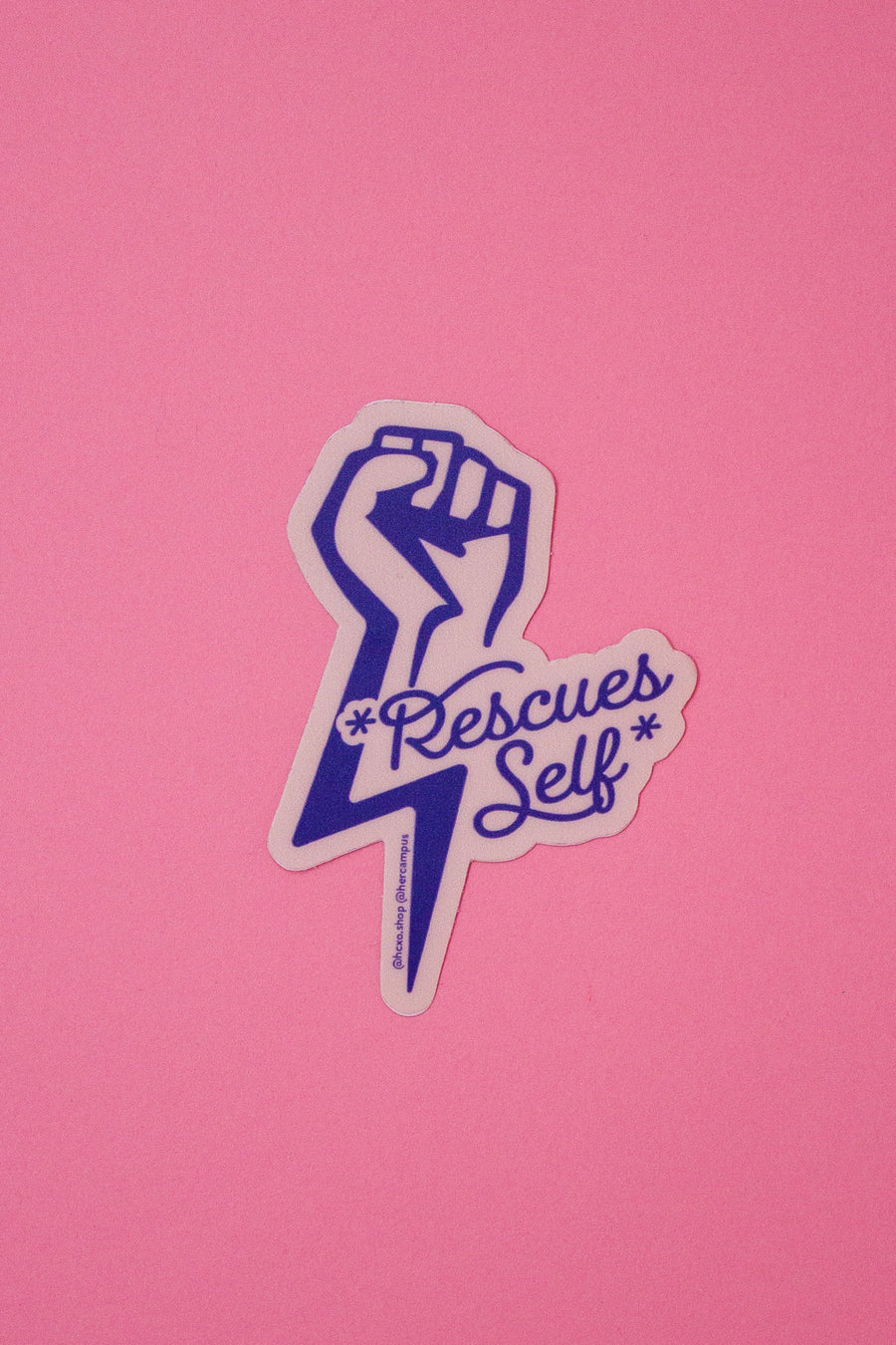 *Rescues Self* Sticker