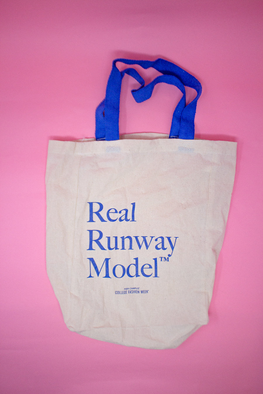 Blue Real Runway Tote