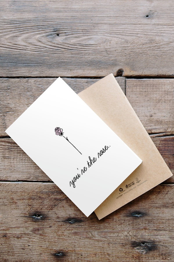 Rose to My Rosé Galentine's Card