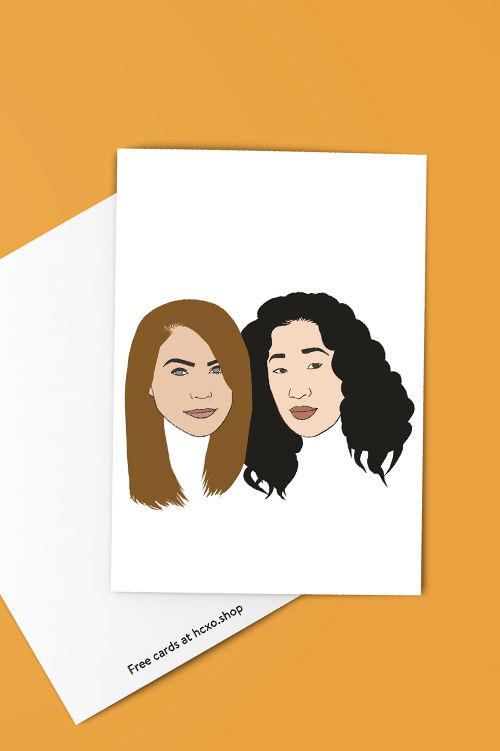 Meredith to My Cristina BFF Greeting Card