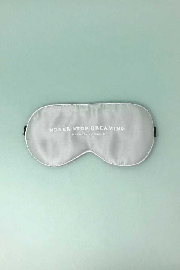 Never Stop Dreaming Silk Sleep Mask - Mint