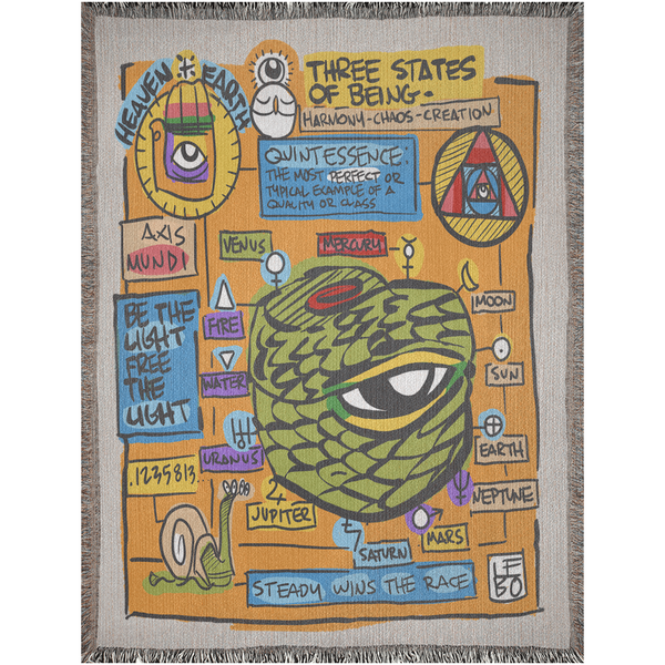 Three States of Being  - Lebo Woven Blanket