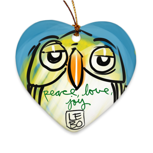 Peace, Love & Joy - Lebo Porcelain Ornaments
