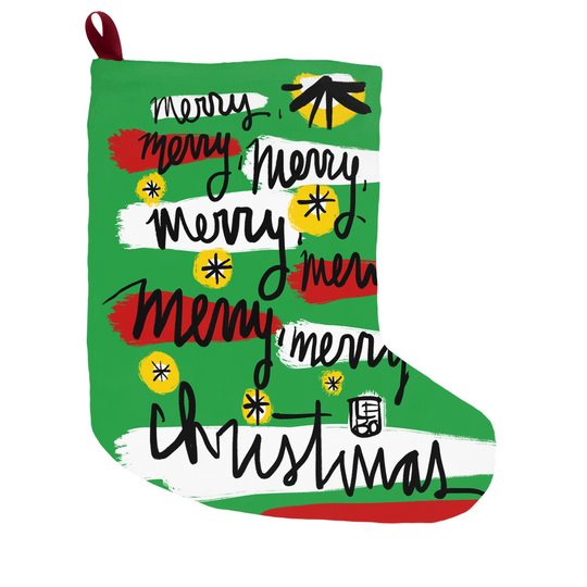 Merry Merry Christmas -  Lebo Holiday Stocking