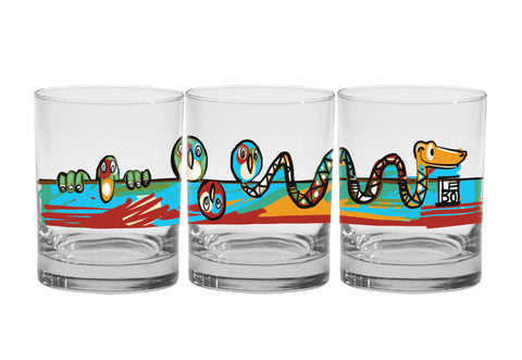 Eternally Connected - Premium Set of 4 Glasses - Lebo Glassware (SOLD OUT) - subscribe to be notified of new arrivals