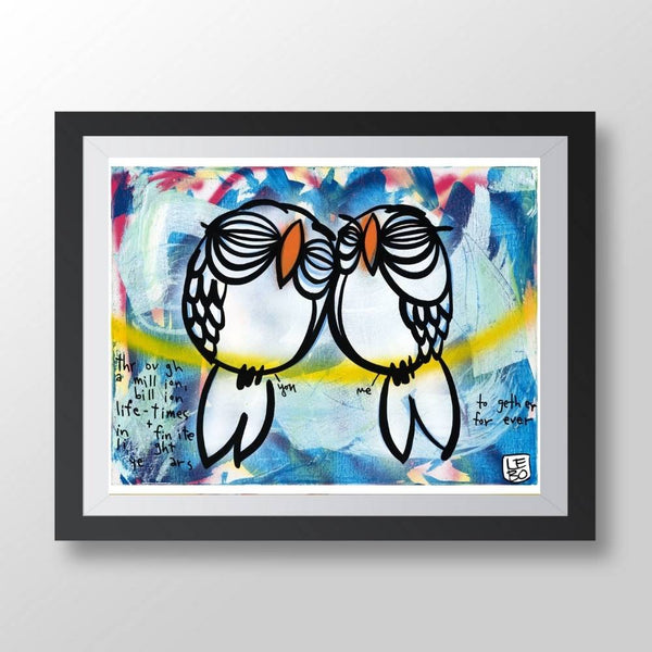 You and Me, Together Forever - Lebo Paper Sketchbook Print