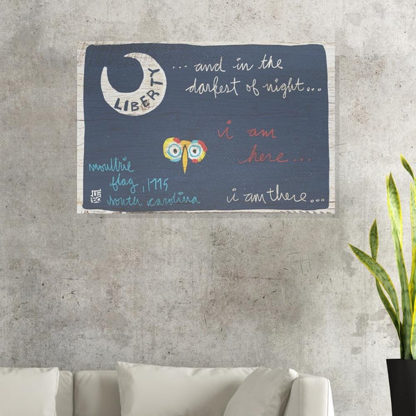 In the Darkest of Night, I Am There Flag - Lebo Brushed Aluminum ArtBond