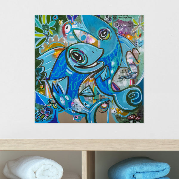 As We Spin Within this Sacred Symbiosis - Jacques Cousteau Series - Mineral Print - shop.leboart.com