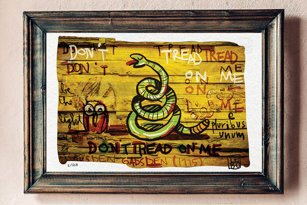 Don't Tread on Me (GADSDEN'S FLAG- FIRST MARINES) - Limited Edition Sketchbook - shop.leboart.com
