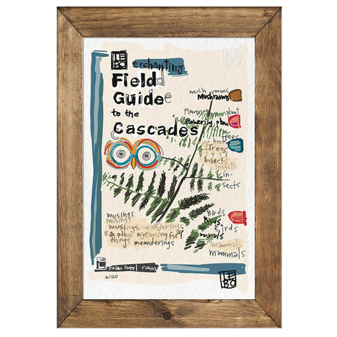 Lebo's Field Guide To The Cascades  - Limited Edition of 20 (only 11 left)