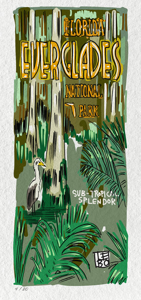 Everglades - Subtropical Splendor - Limited Edition Sketchbook Print