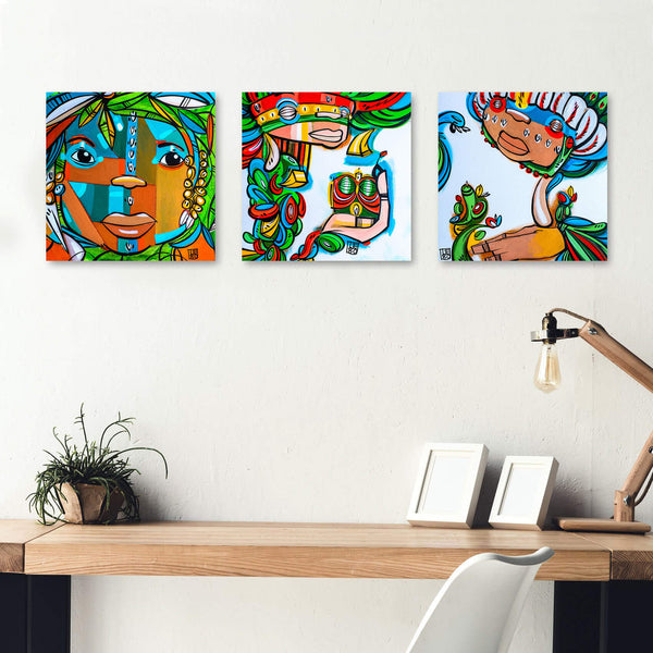 Back to the Garden - 3pc Set - Mineral Print