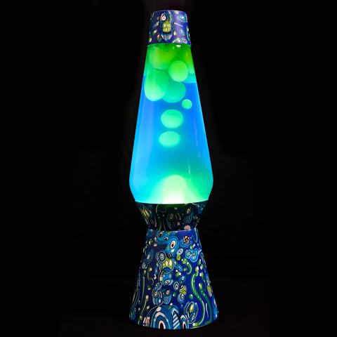Lava Lamp – Blue / Green – Small Owls Design - shop.leboart.com