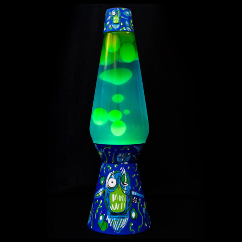 Lava Lamp – Blue / Green – Large Owl Design - shop.leboart.com