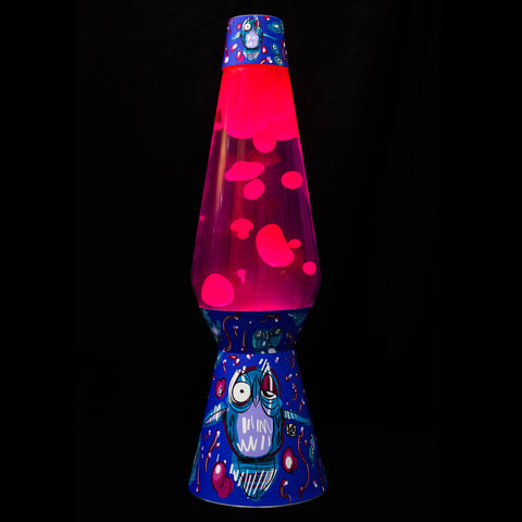 Lava Lamp – Purple / Pink – Large Owl Design - shop.leboart.com