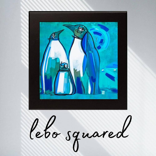 Deep Deep Blue - Lebo Framed Ceramic Tile