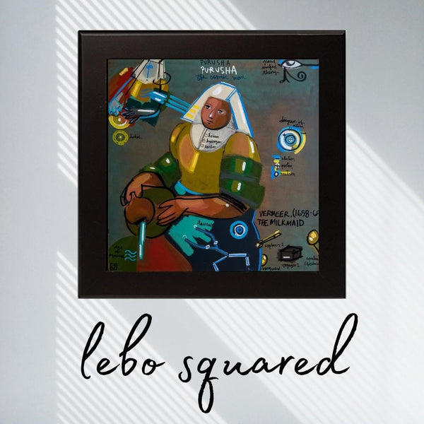 The Cosmic Man - Lebo 101 Series - Lebo Framed Ceramic Tile