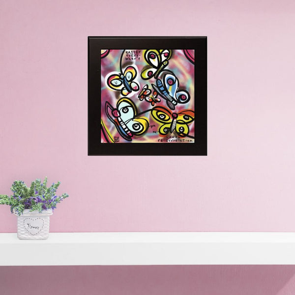 Love and Resurrection - Lebo Framed Ceramic Tile