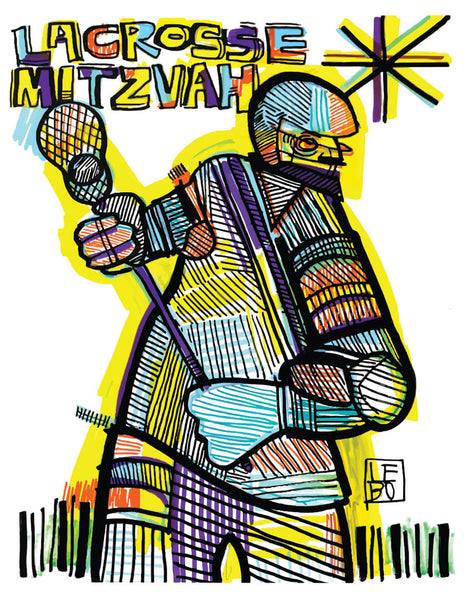 Lacrosse Mitzvah - Limited Edition - Sketchbook Print