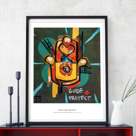 Guide and Protect - Special Edition - Poster - shop.leboart.com