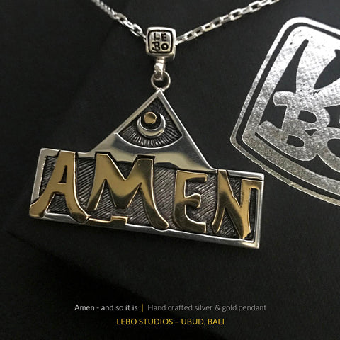 Amen - and so it is - Limited Edition - Lebo Necklace