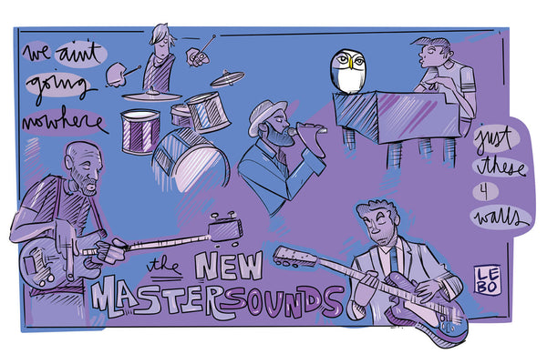 New Mastersounds & Lebo Collaboration - Lebo Paper Sketchbook Print