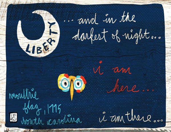 In the Darkest of Night, I Am There Flag - Lebo Paper Sketchbook Print