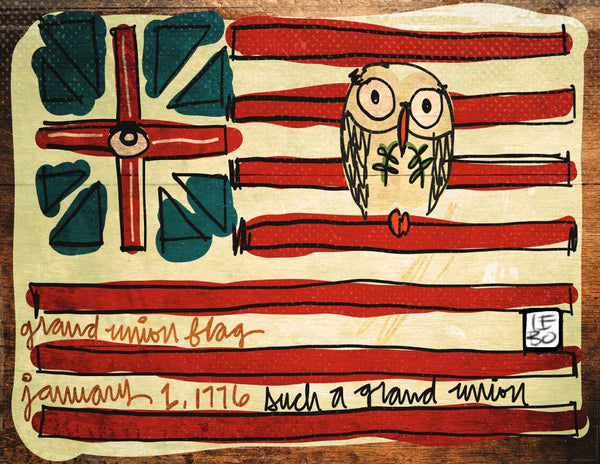 Such a Grand Union, George Washington Flag - Lebo Paper Sketchbook Print