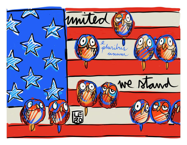 United We Stand - Timed Release - Lebo Paper Sketchbook Print 11x14""