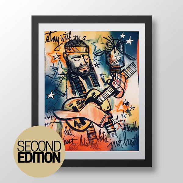 Willie Nelson - Second Edition - Vault Released Sketchbook Print