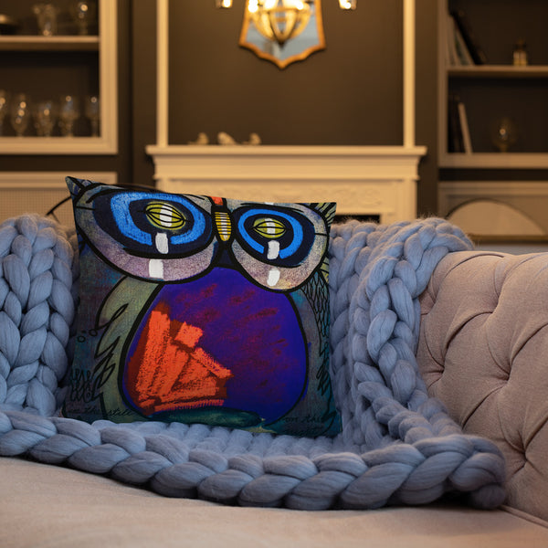 In the Still, on the Night - Lebo Premium Throw Pillow