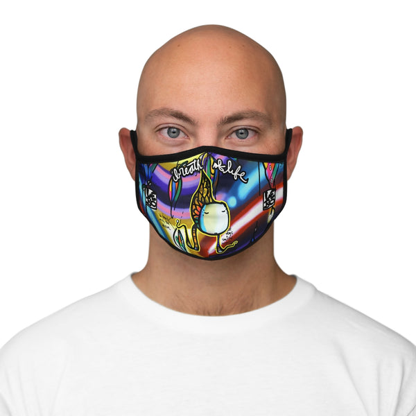 Age of Aquarius - Breath of Life - Fitted Polyester Face Mask