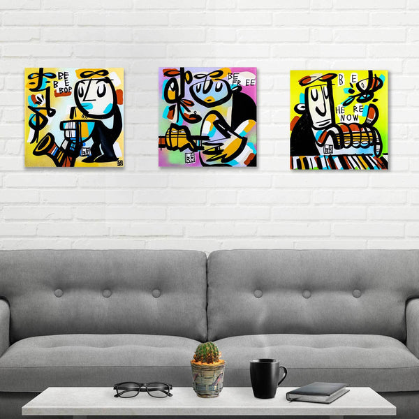 Be Bop, Be Free, Be Here - Signature Series - Mineral Print - shop.leboart.com