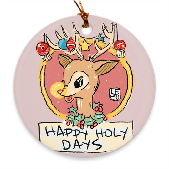 Happy Holy Days - Lebo Porcelain Ornaments