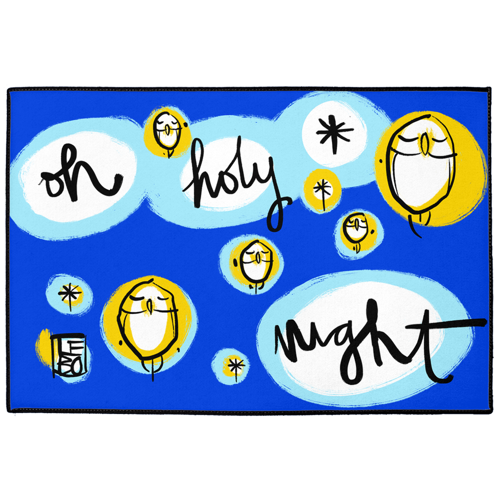 Oh Holy Night -  Lebo Holiday Indoor/Outdoor Floor Mat