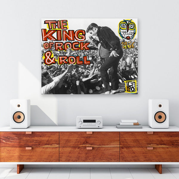 The King Of Rock & Roll - Art Bond - shop.leboart.com
