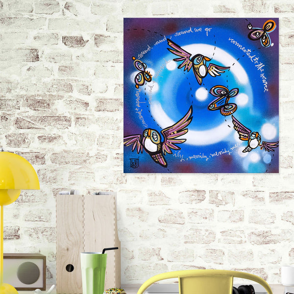 Round And Round We Go - Mineral Print - shop.leboart.com