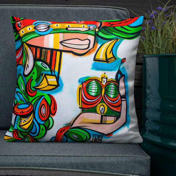 Back to the Garden, Natural Mystic – Lebo Premium Throw Pillow