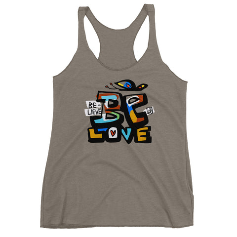 Believe, Be Love – Women's Racerback Tank
