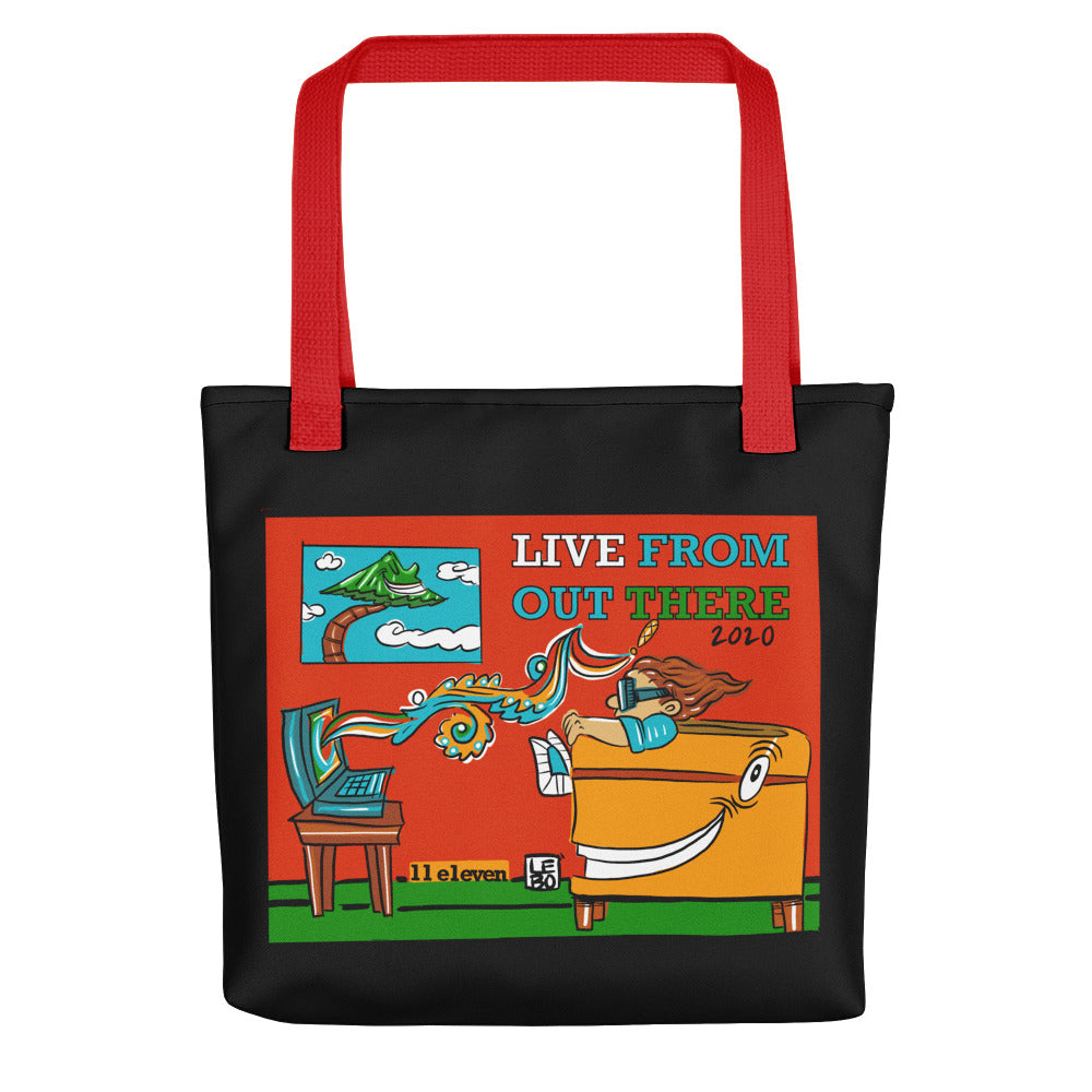 Live From Out There - Lebo Tote bag