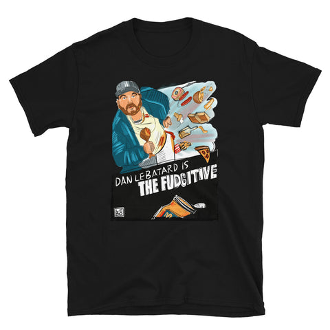 Dannywood - The Fudgitive (Starring Dan Le Batard) – Lebo Short-Sleeve Unisex T-Shirt