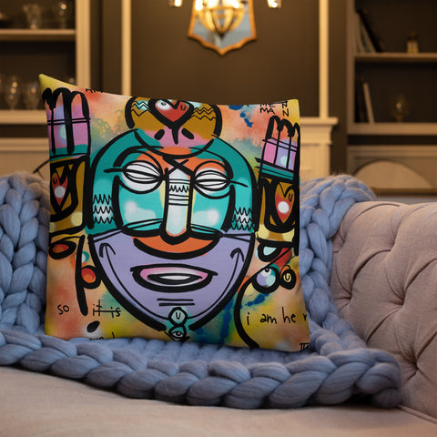 Amen Shaman – Lebo Premium Throw Pillow