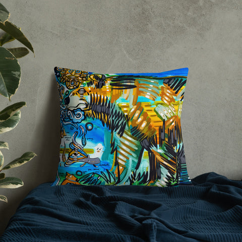 At The Source – Lebo Premium Throw Pillow