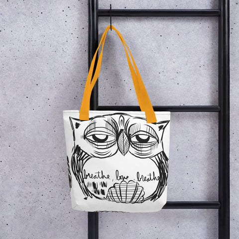 BW Sketch (Breathe, Love, Breathe) – Lebo Tote bag