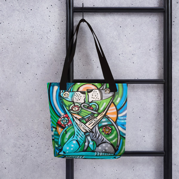 Through Time and Space – Lebo Tote bag