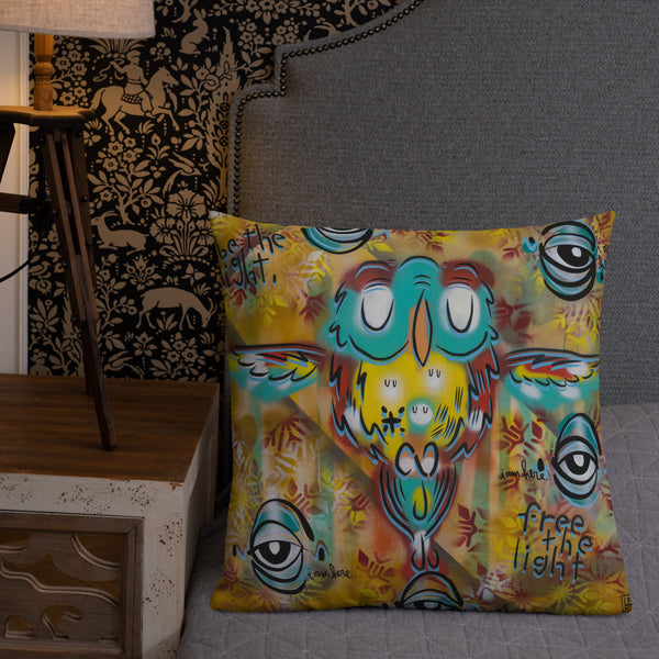 Be the light, free the light – Lebo Premium Throw Pillow