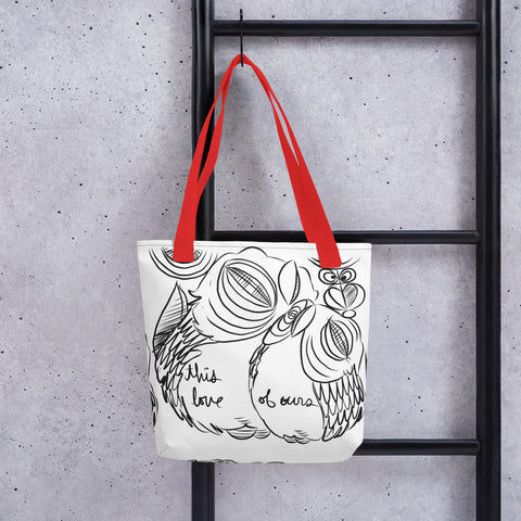 BW Sketch (This Love of Ours) – Lebo Tote bag