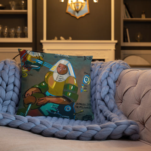 The Cosmic Man - Lebo 101 Series - Lebo Premium Throw Pillow