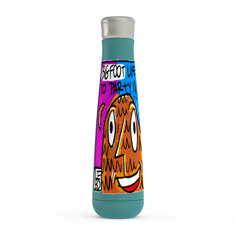 Bigfoot Likes to Party - Lebo Peristyle Water Bottles
